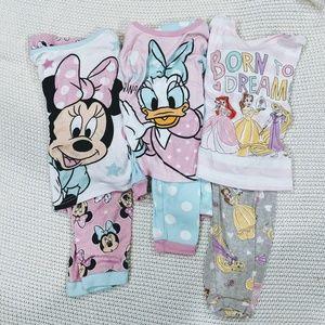 Bundle of 6pc DISNEY pajamas size 4T